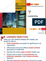 Topic 7 Leadership