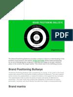 Bullseye Brand Positioning