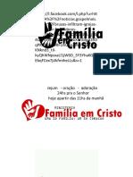 Familia Em Cristo Gloria a DEux