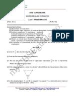 10 Mathematics Sample Paper 10