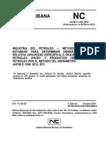 100 NC ASTM D 1298 Petróleo - Densidad