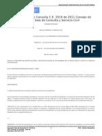Concepto Sala de Consulta C.E. 2019 de 2011 Consejo de Estado - Sala de Consulta y Servicio Civil