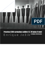 Práctica (200 cartuchos calibre 12, 78 balas 9 mm)  y obras relacionadas [Practice (200 12-gauge cartridges, 78 9mm bullets) and related works]