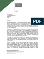 Gobierno envió carta a NYT criticando artículo sobre falsos positivos