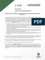 Requisitos para solicitar bienes en donación al Servicio de Administración y Enajenación de Bienes, SAE