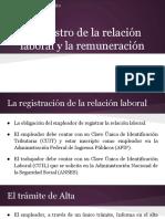 El Registro de La Relación Laboral y La Remuneración
