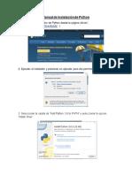 Manual de Instalacion de Python