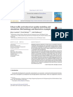 Urban Traffic and Induced Air Quality Modeling