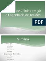 Cultura de Células Em 3D e Engenharia de Tecidos