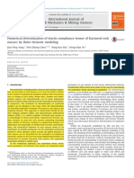 (3)Numerical Determination of Elastic Compliance Tensor of Fractured Rockmasses Byfinite Element Modeling