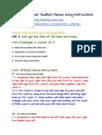 show choir dance instructions 2019 - updated