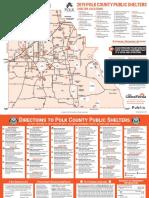 Polk County, Florida, shelter map
