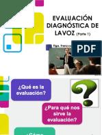 1. Evaluación diagnóstica de la voz hablada