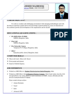 Mashooq Cv (Updated)