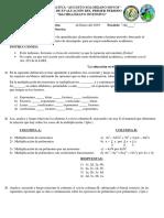 Evaluacion de MAT. 2do. Fase II
