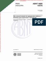 NBR10576-Avaliação de Oleos Isolantes