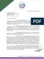 Nota enviada por la Superliga Argentina de Fútbol a la AFA