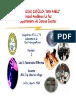 Lab 3 Resistividad Eléctrica Fis 275 2 2018