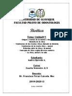 Bioetica U#1 Moral y Etica 4Sem