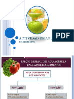 Actividad Acuosa (Aw)
