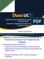 CLASE 10 Proyectos de Inversion en SSO 2019-1(1)