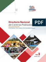 Directorio Nacional de Centros Poblados Del Departamento Ica 2017