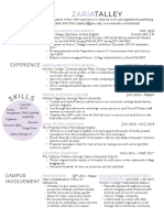 zaria talley blended resume