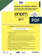 Caderno Amarelo do Enem 2017 - 1º dia