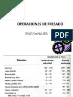Calculos en Fresadora 2016