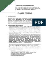 Plan de Trabajo Expediente Tecnico - Paccayura.