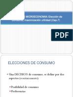 CLASE No. 6 Elección Consumo y Maximizacion de Utilidad