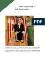 Ricardo Reis — Entre Carpe Diem e Cadáver Adiado Que Procria