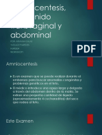 Amniocentesis, Ultrasonido Transvaginal y Abdominal