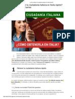 Como obtener la Nacinalidad Italiana en italia