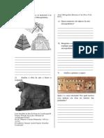 Avaliação - arte mesopotâmica e egípcia
