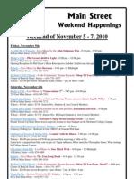 Westminster MD Main St. Weekend Happenings for Nov. 5 2010