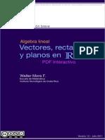 Walter Mora F. - Vectores, rectas y planos en R^3 (Vectors, lines and planes in R^3).pdf