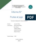 Informe de Frutas Al Jugo