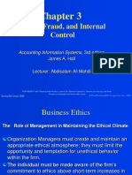 Chapter 3 Ethics-Fraud-Internal Control