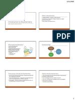 01 - Introduction to Biochemistry