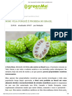 Noni_ Veja Porquê é Proibida No Brasil - GreenMe.com.Br