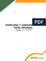 Catálogo papelería 2018