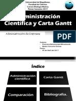 H. Gantt - Adm. Cientifica