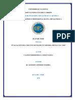 informe de planta de procesamiento