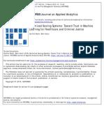 Optimized Scoring Systems Toward Trust