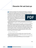 Ascii Character Set and Ansi