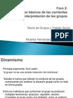 Elementos básicos de las corrientes de interpretación de los grupos