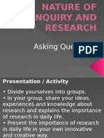 Presentation of Lesson 1 Nature of Inquiry and Research