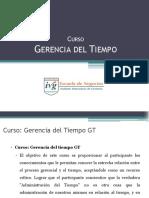 Presentacion Curso Gerencia Del Tiempo