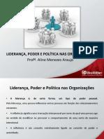 Aula 12_liderança, Poder e Política Nas Organizações